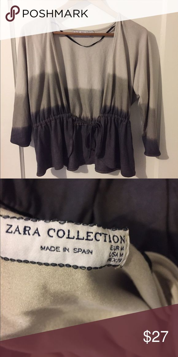 """Zara Ombré Grey Shrug In Great Condition, Made in Spain 65% Viscose 35% Polyester/ Bust: 22.5"""" Length: 22"""" Zara Sweaters Cardigans"""