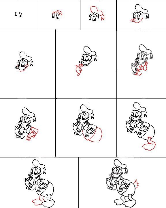 Zo teken je Donald Duck