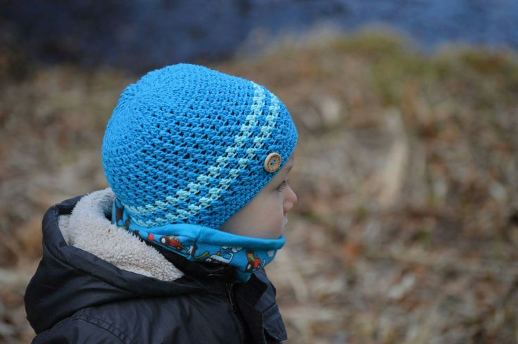 Crochet spring hat for boys💙