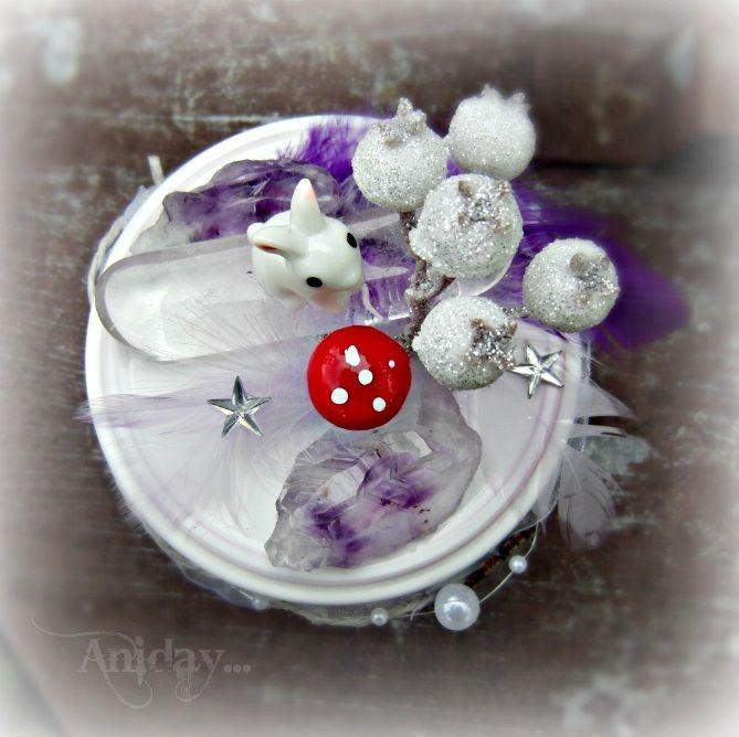 ... vílí zahrádka bílá - svítící dekorace ... | Zobrazit plnou velikost fotografie