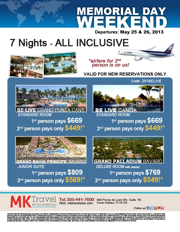 memorial weekend getaway deals 2014