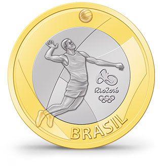 Moedas - Rio 2016 - Voleibol