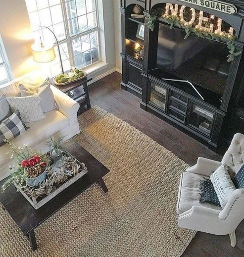 This is the Pottery Barn Chunky wool & jute rug. Lovely on the dark floors.