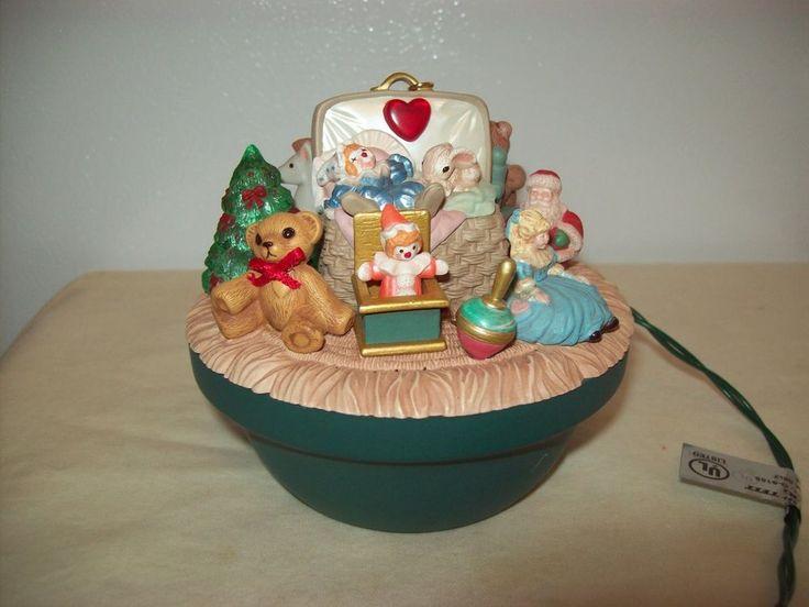 Hallmark Magic Light Victorian Toy Box Ornament Works No Box 1995