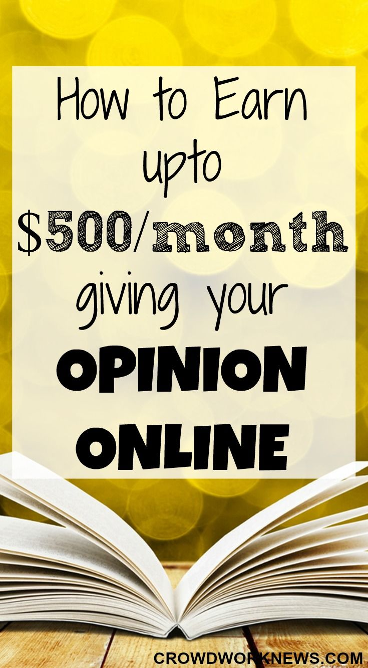 Do you want to make an extra $500 per month by just giving your opinion? Here is how you can do it online.