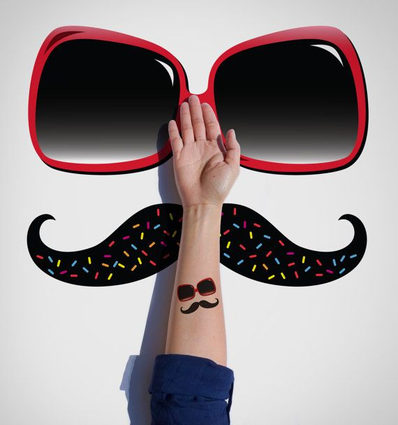 Summer temporary Tattoo / Sunglasses Temporary by EasternCloud