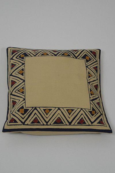 Border Print Cushion Cover