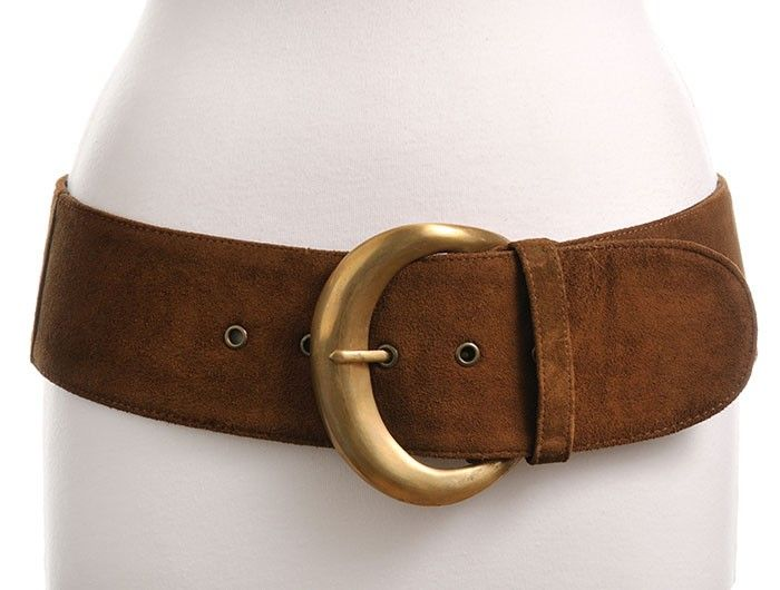 Womens Casual Belts. Women's Full Grain Casual Leather Belt with Polished Solid Brass Buckle /2