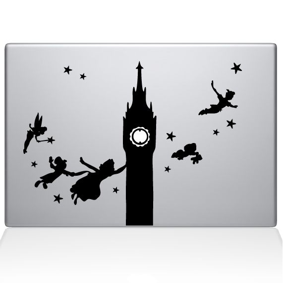 The Decal Guru  - Peter Pan Disney Macbook Decal Stickers, $11.99 (http://thedecalguru.com/macbook-decals/peter-pan-disney-macbook-decal-stickers/)