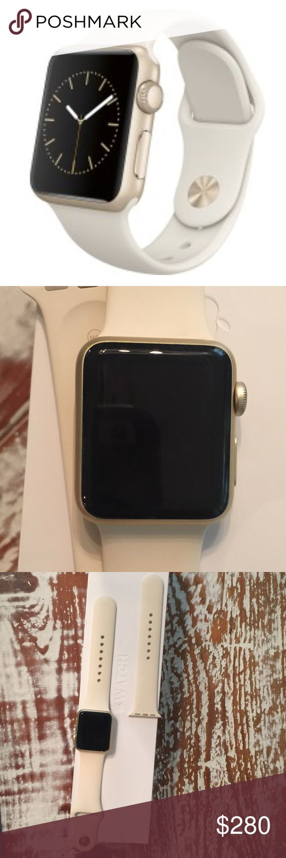 Apple Watch Sport antique white New never worn. No flaws. Antique white 38 mm with two bands and charger in original case. No trades. Apple Accessories Watches