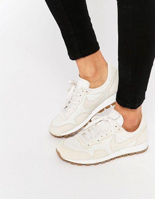 Nike | Nike Beige Suede Air Pegasus Trainers