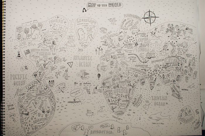 40 best creative remakes of the world map images on pinterest if you dont have the pleasure to be a student in a geography class where the teacher can draw an entire world map from memory plot twist the teacher is a gumiabroncs Image collections