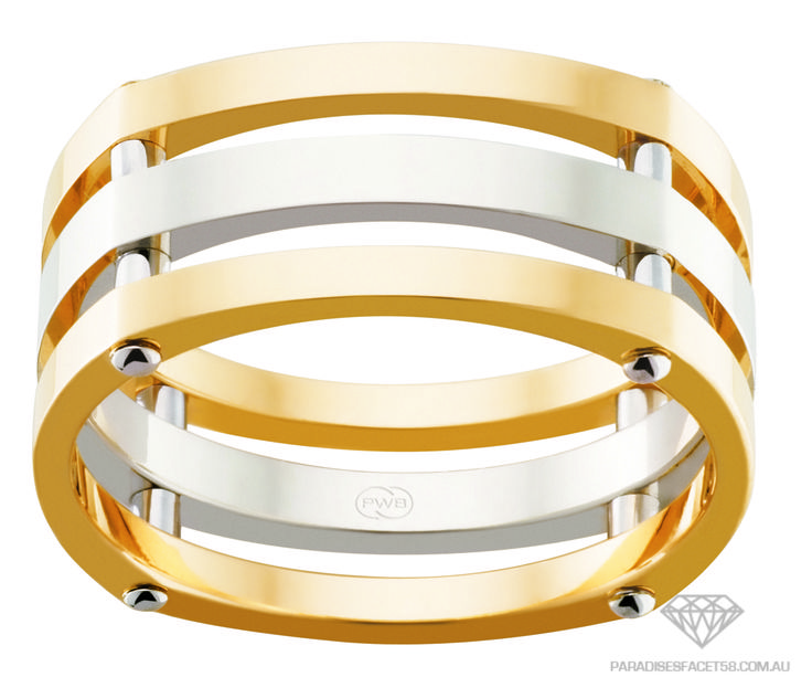 Peter W Beck Wedding Rings 2TJ3934BB - Gents Wedder - Available in 9ct Yellow, Rose and White Gold combinations