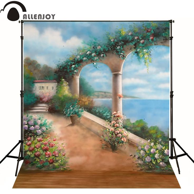16.97$  Buy now - http://alieiq.shopchina.info/1/go.php?t=32724308076 - Allenjoy vinyl backdrops for photography Mediterranean-style courtyard retro photo background baby kid photocall cute 3x5ft  #bestbuy