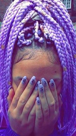 Purple box braids @pay10m