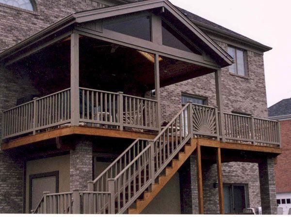 17 best covered deck ideas images on pinterest decks for 2 story porch columns