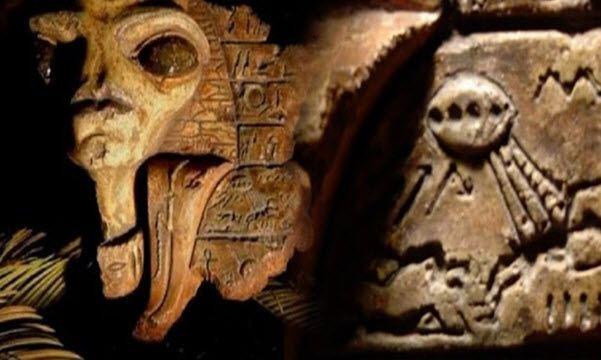 Bewijs van Aliens in de oude Egyptische hiërogliefen, Overblijfselen Verborgen in het Rockefeller Museum.   6 oktober 2016           Source...