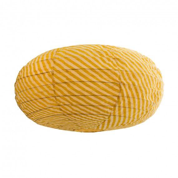 Lampa Afroart gul oval