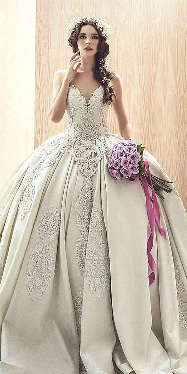 Disney Wedding Dresses For Fairy Tale Inspiration ❤ See more: http://www.weddingforward.com/disney-wedding-dresses/ #weddings
