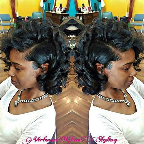 STYLIST FEATURE| Gorgeous #curls ➰ on this #silkpress styled by #STLStylist @VirtuousGlam❤️ I love a #curlybob ✂️ #voiceofhair ========================= Go to VoiceOfHair.com ========================= Find hairstyles and hair tips! =========================