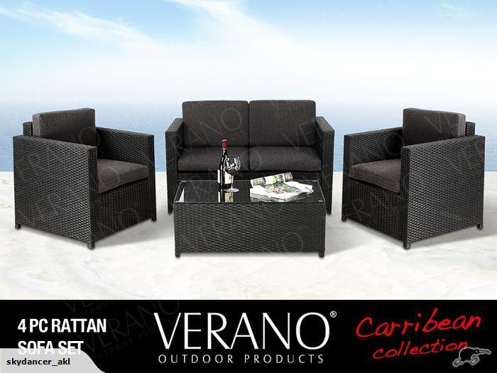 Rattan Outdoor Furniture Coffee Table Set VERANO | Trade Me