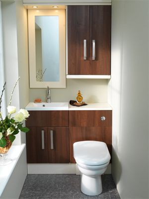 Good Quality Bathroom Furniture. Brecon Dark Walnut And High Gloss Cream  C2 B7 Fitted Bathroom Furniturefitted