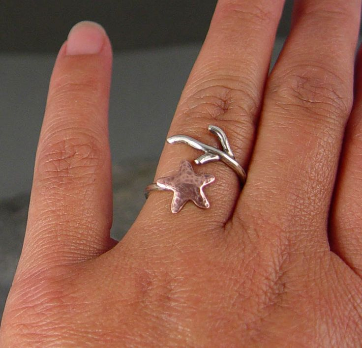 Starfish and coral ring