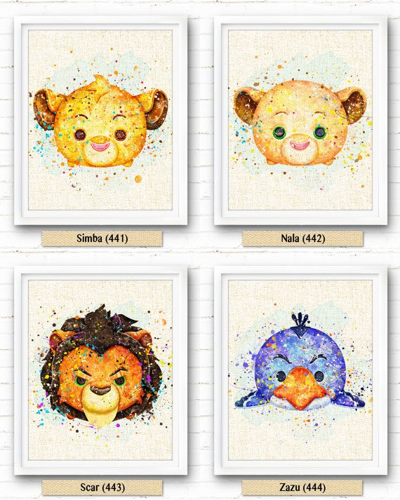 Lion King Nala Art Print Tsum Tsum Fabric Print par NeighborArts