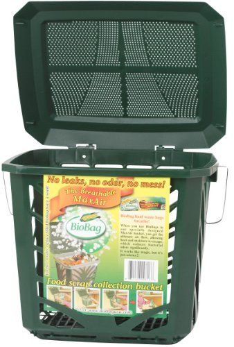 the bio bag maxair composting bucket is a small and convenient compost bucket ideal for the countertop or under the kitchen sink