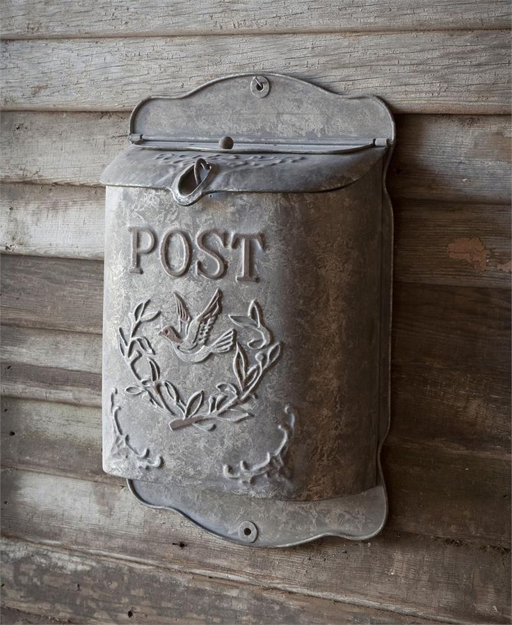 Metal Wall Mounted Post Mailbox - would be pretty stuffed full of dried flowers in my kitchen!