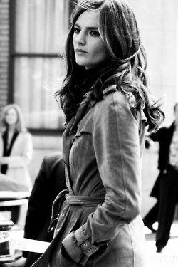 Kate Beckett / Stana Katic.  I love her wardrobe especially the jackets!