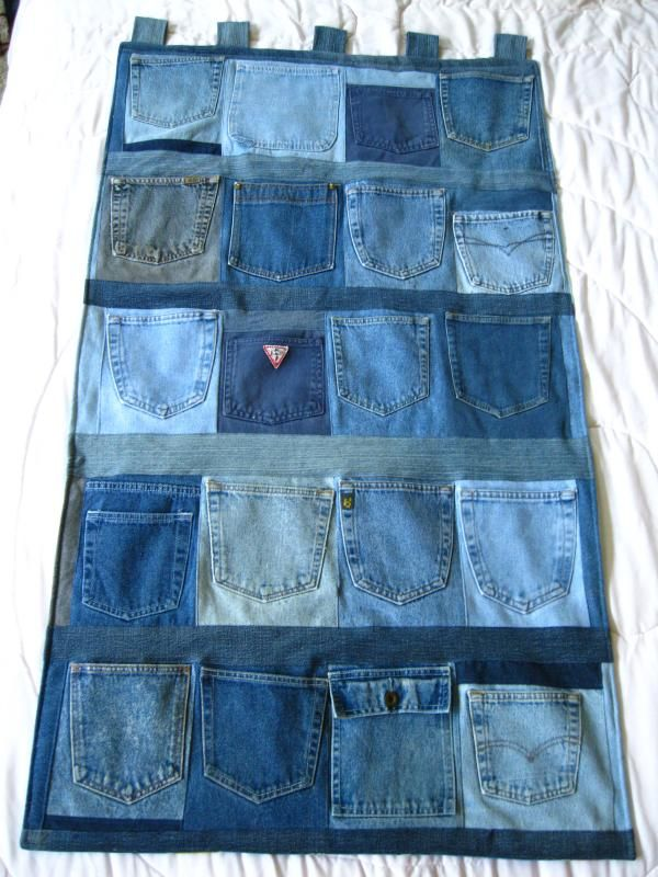 Very clever use of jean pockets!