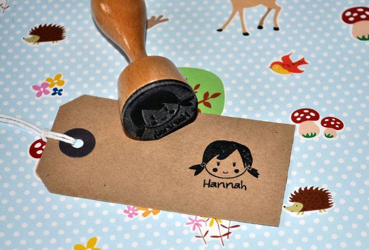 Namen & Monogramme - Stempel ♥ Namensstempel Kinder ♥ Kinderstempel - ein Designerstück von DerkleineSperling-Stempel bei DaWanda