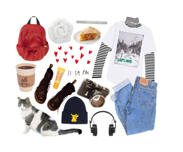 """""""snow day"""" by eileenniclarkyy on Polyvore featuring Levi's, Master & Dynamic, Marc by Marc Jacobs, Acne Studios, Dr. Martens, Burt's Bees and Brinkhaus"""