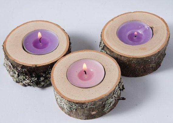 25 rustic candle holders tea light holder от PlaceCardHolderShop