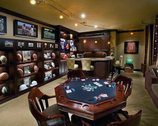 Home Tips for creating a man cave. - https://homechanneltv.blogspot.com/2017/10/home-tip-tuesday-creating-man-cave.html#more