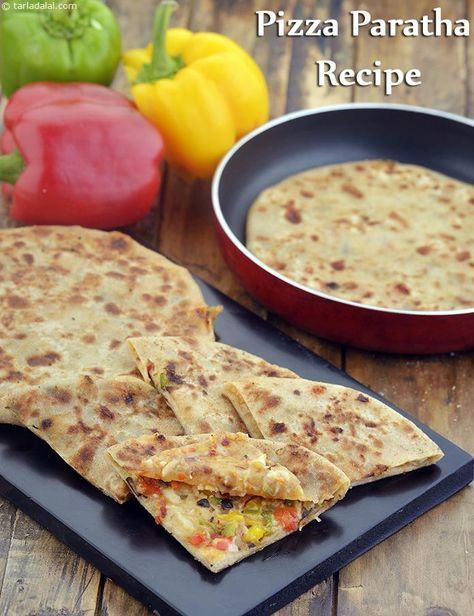 Pizza Paratha Recipe, Cheesy Kids Paratha