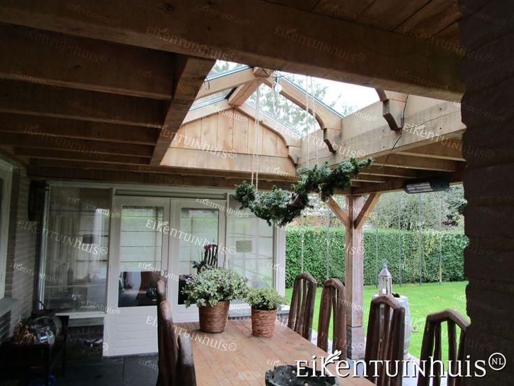 veranda aan boerderij met rieten dak - Google zoeken ...