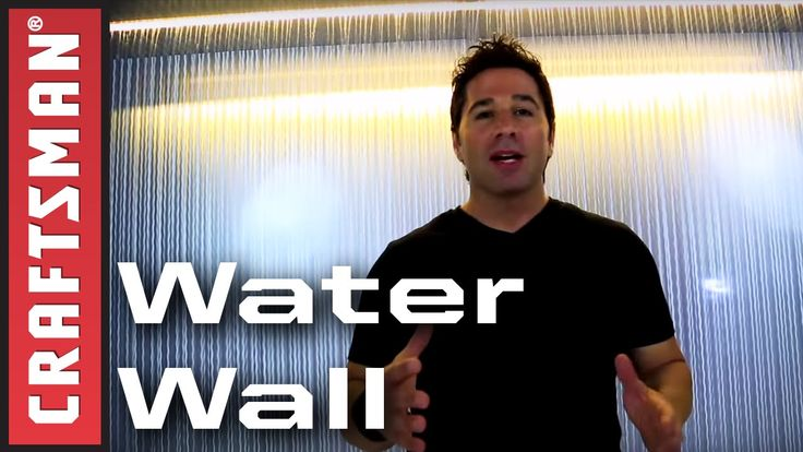 How to Build a Water Wall: Indoor Waterfall Fountain | Craftsman
