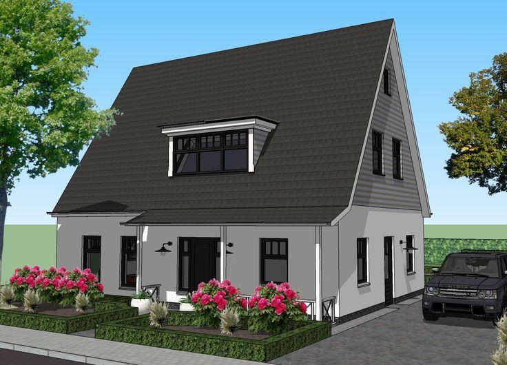 Impressie vrijstaande wit gekeimde woning. Door Signatuur Rijssen ( www.signatuurrijssen.nl )
