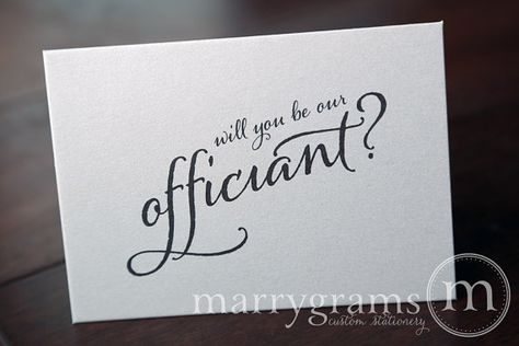 Wedding Card to Ask Officiant - Will You Be Our Officiant Card - Simple, Elegant for Friend, Priest, Deacon, Family to Marry Us
