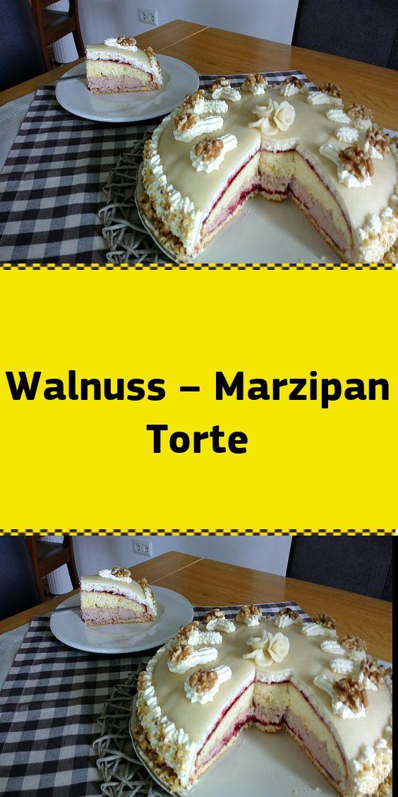 Walnuss – Marzipan Torte