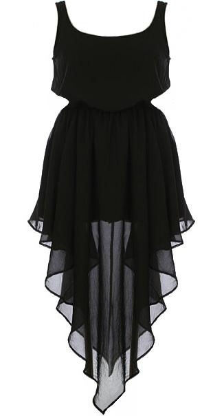 Little, Black, Yes <3: Cascading Noir, High Low Dresses, Noir Dresses, Cute Summer Outfit, Http Livelovewear Com Dresses, Tanks Style Dresses Black, Little Black Dresses, Chiffon Dresses, Dreams Closets