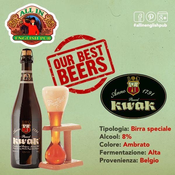 Kwak la birra dei cocchieri! Una birra belga con un colore ambrato ad alta fermentazione