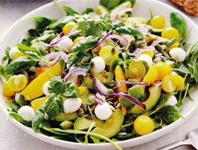 Salat mango avocado mozerel