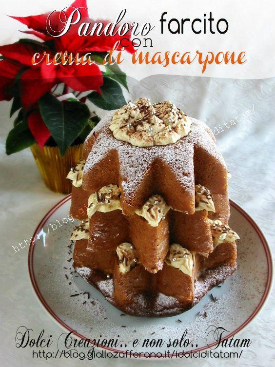 Pandoro farcito con crema di mascarpone | ricetta delle feste | tatam