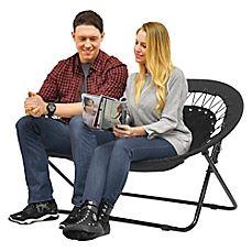 Image Of Idea Nova Double Saucer Folding Chair In Black