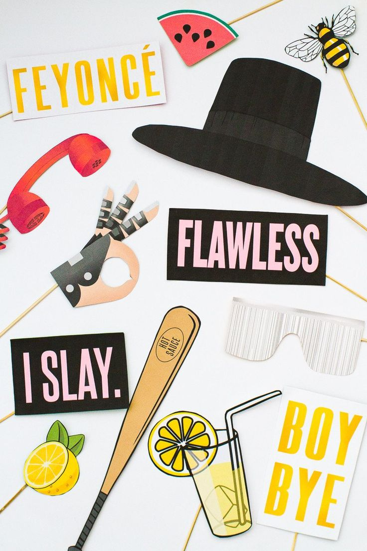 BEYONCÉ PHOTO BOOTH PROPS PACK PRINTABLES