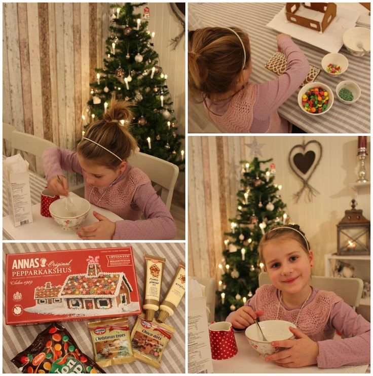 Decorating a gingerbread house for christmas <3