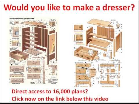 Wood Dresser Plans How to Build A DIY Wooden Dresser Table Timelapse ...